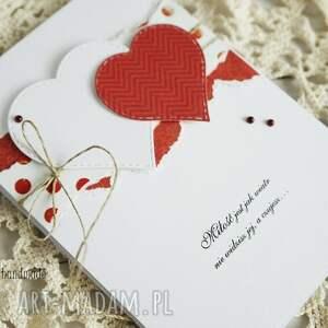 scrapbooking kartki walentynka z sercami