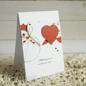 walentynkowa scrapbooking kartki walentynka z sercami