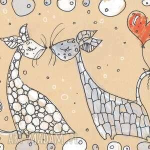 czerwone scrapbooking kartki walentynki koty