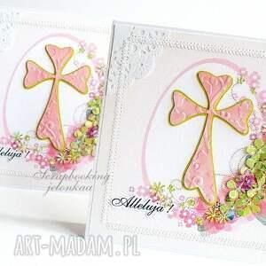 scrapbooking kartki kwiaty wielkanoc - kartka