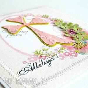 różowe scrapbooking kartki jajko wielkanoc - kartka
