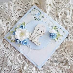gustowne scrapbooking kartki gratulacje witaj na świecie!, kartka w pudełku
