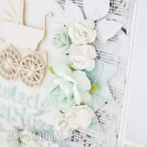 handmade scrapbooking kartki maleństwo witaj na świecie