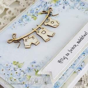 hand-made scrapbooking kartki narodziny witaj na świecie maleństwo! 458