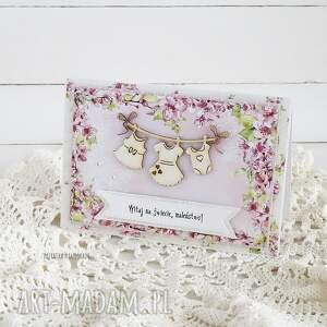 różowe scrapbooking kartki narodziny witaj na świecie maleństwo! 457