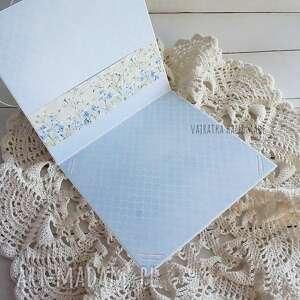 białe scrapbooking kartki życzenia witaj na świecie!, kartka w pudełku