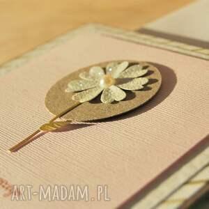 kwiatek scrapbooking kartki różowe wszystkiego najlepszego