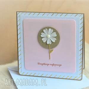 wyraziste scrapbooking kartki kwiatek wszystkiego najlepszego