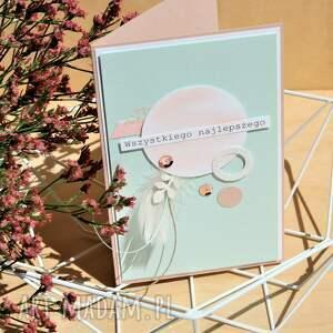 gustowne scrapbooking kartki pastele wszystkiego najlepszego