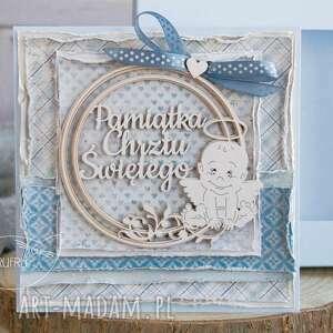 białe scrapbooking kartki na chrzest wyjątkowa pamiątka chrztu świętego.