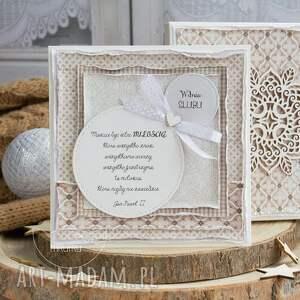 ręcznie wykonane scrapbooking kartki kartka ślubna wyjątkowa warstwowa
