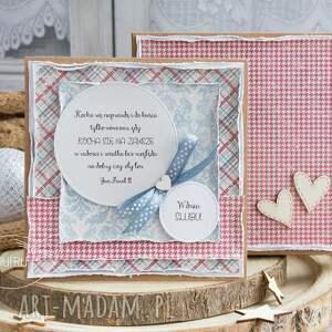 urokliwe scrapbooking kartki kartka ślubna wyjątkowa warstwowa
