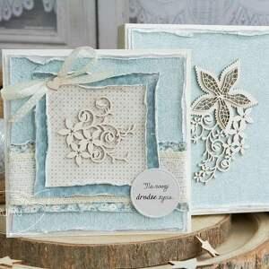 niekonwencjonalne scrapbooking kartki kartka ślubna wyjątkowa warstwowa