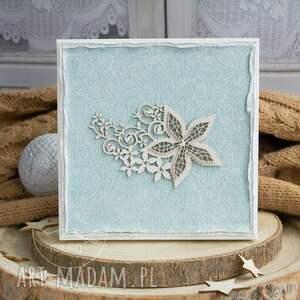 beżowe scrapbooking kartki prezent ślubny wyjątkowa warstwowa kartka ślubna