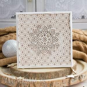 brązowe scrapbooking kartki prezent ślubny wyjątkowa warstwowa kartka ślubna