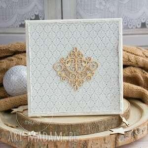 ślub scrapbooking kartki kolorowe wyjątkowa warstwowa kartka ślubna