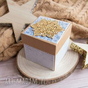 box scrapbooking kartki brązowe wyjątkowe pudełeczko ślubne dla