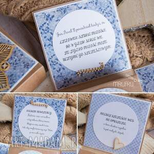 scrapbooking kartki ślub wyjątkowe pudełeczko ślubne dla