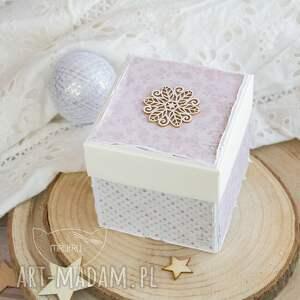 narodziny scrapbooking kartki różowe wyjątkowy eksplodujący box