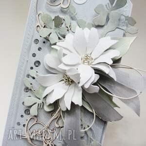 awangardowe scrapbooking kartki gratulacje z kwiatami w pudełku