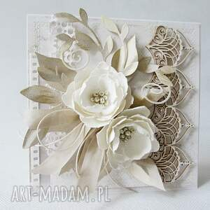 oryginalne scrapbooking kartki podziękowanie z kwiatami - w pudełku
