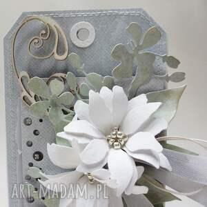 gratulacje scrapbooking kartki z kwiatami w pudełku