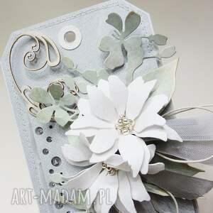 awangardowe scrapbooking kartki ślub z kwiatami w pudełku