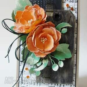 scrapbooking kartki ślub z kwiatami - w pudełku