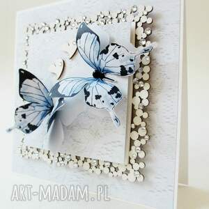 unikatowe scrapbooking kartki gratulacje z motylami