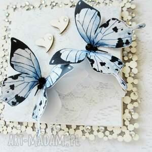 życzenia scrapbooking kartki niebieskie z motylami