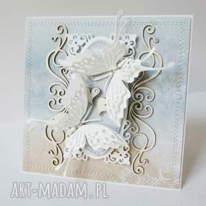gratulacje scrapbooking kartki z motylami - w pudełku