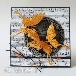 scrapbooking kartki ślub z motylami - w pudełku