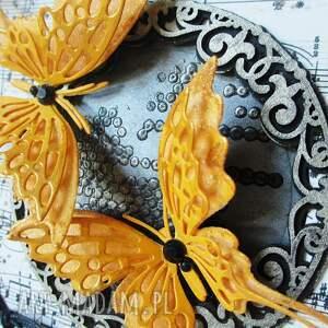 scrapbooking kartki zaproszenie z motylami - w pudełku