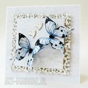 unikatowe scrapbooking kartki życzenia z motylami