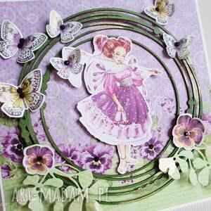 niepowtarzalne scrapbooking kartki urodziny z motylkami