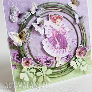niepowtarzalne scrapbooking kartki życzenia z motylkami
