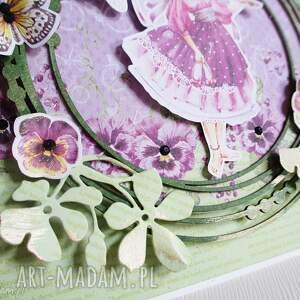 scrapbooking kartki urodziny z motylkami