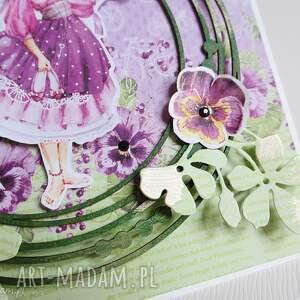 urodziny scrapbooking kartki z motylkami