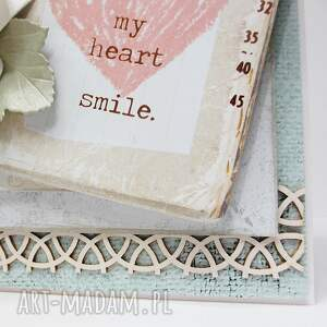 białe scrapbooking kartki ślub z napisem - w pudełku