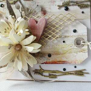 białe scrapbooking kartki życzenia z sercem