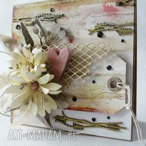 ślub scrapbooking kartki z sercem