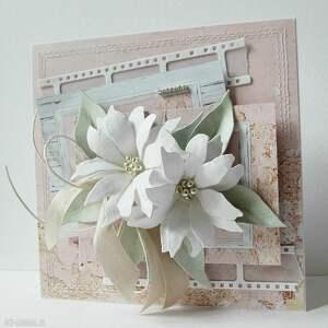 życzenia scrapbooking kartki różowe z życzeniami - w pudełku