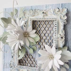 scrapbooking kartki: Z życzeniami - w pudełku - życzenia gratulacje