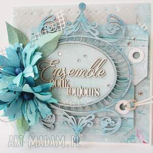 życzenia scrapbooking kartki z życzeniami - w pudełku
