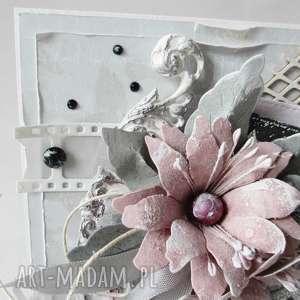 scrapbooking kartki ślub z życzeniami - w pudełku