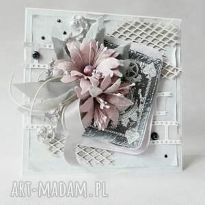 eleganckie scrapbooking kartki gratulacje z życzeniami - w pudełku