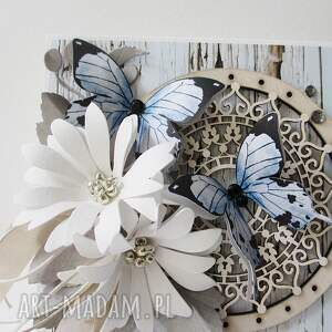 ręczne wykonanie scrapbooking kartki ślub z życzeniami - w pudełku