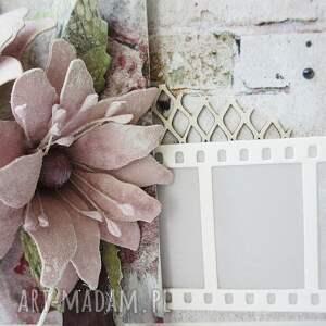 różowe scrapbooking kartki ślub z życzeniami - w pudełku