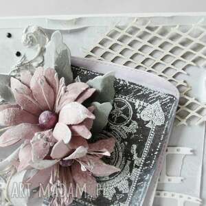 eleganckie scrapbooking kartki ślub z życzeniami - w pudełku