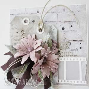 awangardowe scrapbooking kartki życzenia z życzeniami - w pudełku